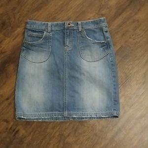 Girls old navy blue jean skirt